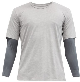 Jacques - Compression Lined T-shirt - Grey Multi