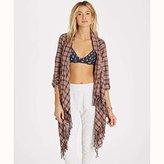 Billabong Women's Liv It up Flannel Plaid Wrap
