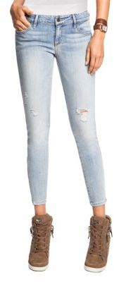 GUESS Kate Skinny Cropped Zip Jeans