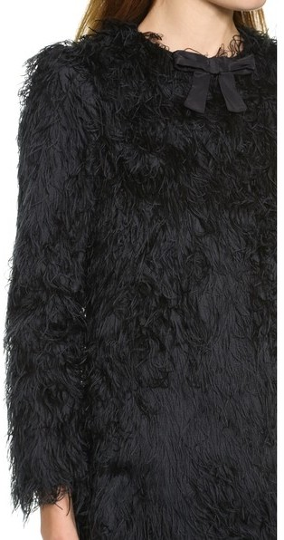RED Valentino Fuzzy Coat