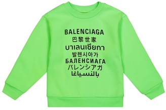Balenciaga Kids Languages cotton sweatshirt