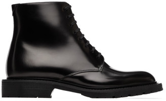 Saint Laurent Black Army Lace-Up Boots