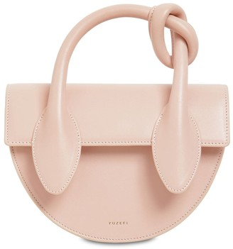 Yuzefi DOLORES LEATHER TOP HANDLE BAG