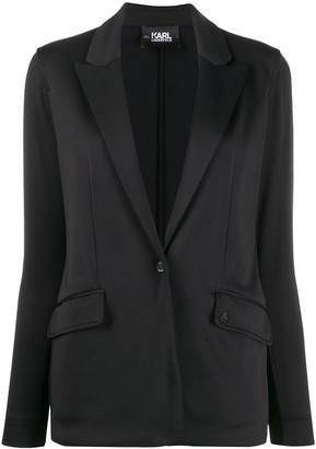 Karl Lagerfeld Paris Rue St-Guillaume jersey blazer