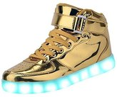 GreatJoy High Top LED Shoes LED Light Up Sneaker 7 Color Christmas Gift (11B(M)US-women/10.5D(M)US-men, )