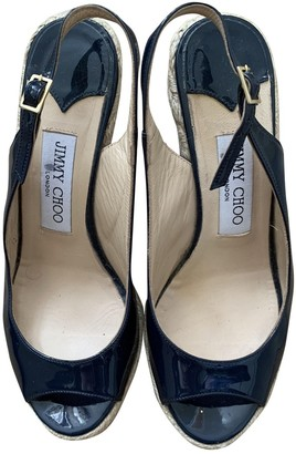 Jimmy Choo Blue Patent leather Sandals