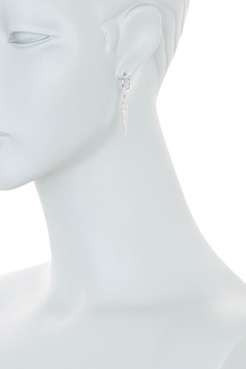 Meira T 14K White Gold Pave Diamond Pointed Drop Earrings