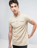 Brave Soul Polo Shirt with Chest Pocket