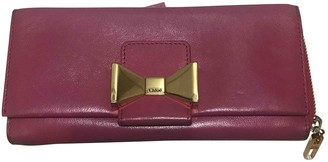 Chloé Pink Leather Wallets