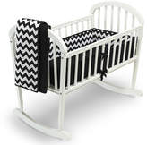 Baby Doll Bedding BabyDoll Bedding Chevron 3 Piece Cradle Bedding Set