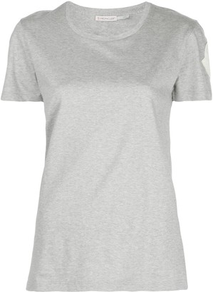 Moncler logo-patch crew neck T-shirt