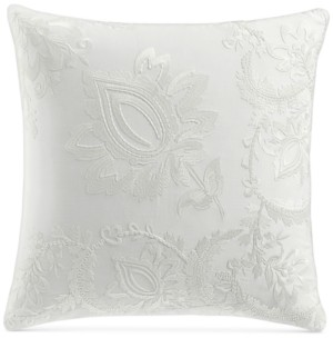 "Charter Club Damask Designs Jacobean Embroidered 18"" Square Decorative Pillow, Created for Macy's Bedding"
