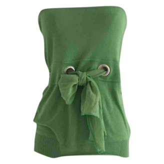 Chloé Green Cotton Top for Women Vintage