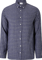 Libertine-libertine Drive Hunter Check Flannel Shirt, Navy