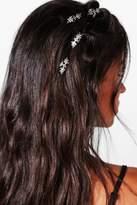 Boohoo Sarah Floral Hair Ring Clips 5pk