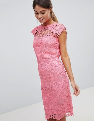 Paper Dolls Lace Dress With Scalloped Back