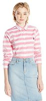 U.S. Polo Assn. Junior's Horizontal Stripe Poplin Long Sleeve Shirt