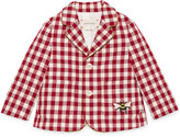 Gucci Baby check wool jacket