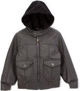 Urban Republic Charcoal Hoodie Bomber Jacket - Boys