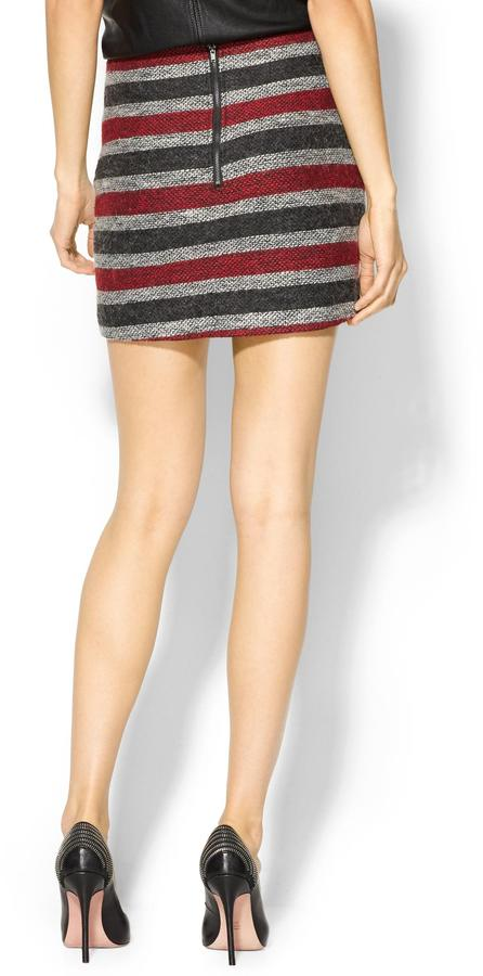 BCBGMAXAZRIA Hive & Honey Tweed Stripe Skirt