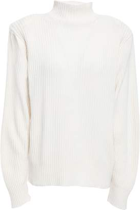Thierry Mugler Ribbed Wool And Cashmere-blend Sweater