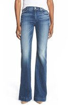 7 For All Mankind 'Tailorless - Dojo' Wide Leg Jeans (Lake Blue) (Short)
