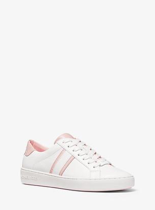 Michael Kors Irving Two-Tone Stripe Leather Sneaker