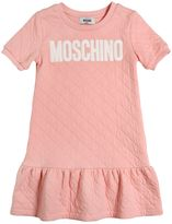 Moschino Logo Quilted Cotton Jersey Dress