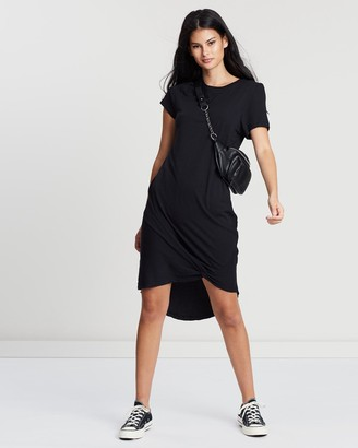 Silent Theory Women's Black Mini Dresses - Twisted Tee Dress - Size One Size, 6 at The Iconic