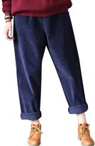 Yolee Women's Corduroy Trousers Casual Pants Slacks