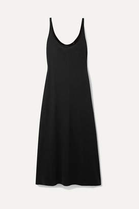 ATM Anthony Thomas Melillo High Torsion Cotton-jersey Midi Dress - Black