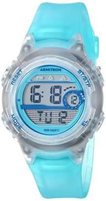Armitron Sport Women's 45/7088TLB Digital Chronograph Translucent Light Resin Strap Watch
