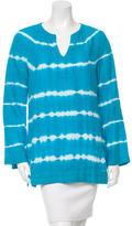 Michael Kors Tie-Dye Print Long Sleeve Tunic