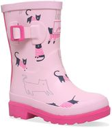 Joules Girls Rose Pink Cat Wellingtons