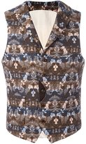 Al Duca D'Aosta 1902 - patterned sleeveless waistcoat - men - Cotton/Polyester/Acetate - 48
