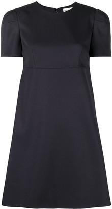 Alexander McQueen Short-Sleeve Pleat Minidress