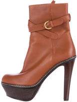 Sergio Rossi Leather Platform Boots