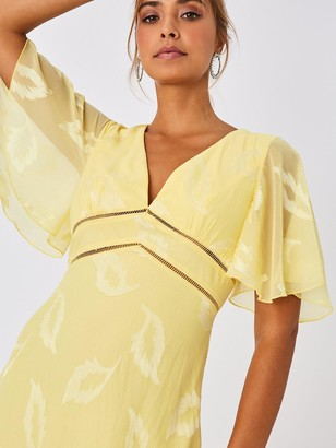 Little Mistress Mini Applique Dress - Lemon