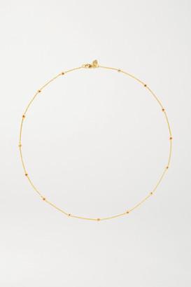 Octavia Elizabeth - Nesting Gem 18-karat Gold Ruby Necklace - one size