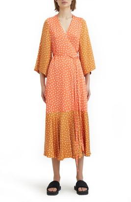 Rodebjer Print Wrap Dress