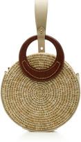 Khokho Mini Letta Leather-Trimmed Circle Bag