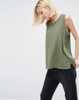 Current/Elliott Current Elliott Oversized Tank With All Over Star Print