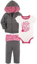 Yoga Sprout Girls' Infant Bodysuits Peacock - White & Pink Peacock Bodysuit Set - Newborn & Infant