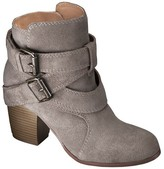 Mossimo Women's Jessica Genuine Suede Strappy Boots - Taupe 5.5