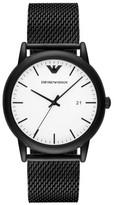 Emporio Armani Mesh Strap Watch, 43Mm