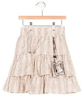 Christian Dior Girls' Embellished Eyelet Skirt