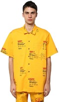 Off-White Off White Industrial Printed Cotton Canvas Shirt