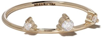 Mizuki 14kt Yellow Gold Three Diamonds Ring