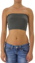 Musa Seamless Solid Cropped Tube Top Bandeau, One Size