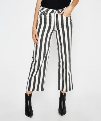 Paige Nellie Culotte Jeans Striped Black Ecru
